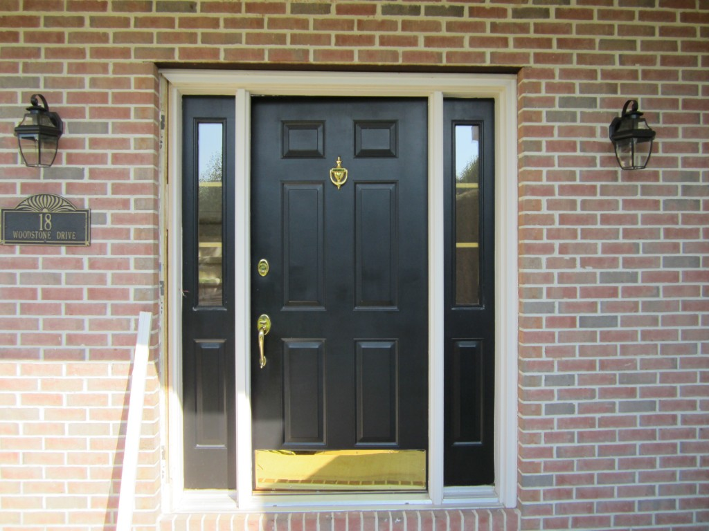 Black Door With Sidelights Cortazzo Construction